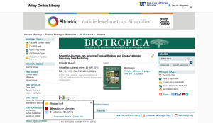 You can now see the Altimetrics for articles published in Biotropica.