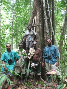 Field crew, from left to right: Gibson Sosanika (co-author), Jori Umbang, Tom, Markus Dugam, Billy Bau