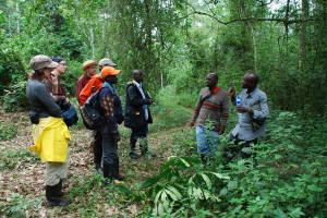 Several team members plan the project. Lead author Josephine Esaete is the one wearing an orange cap.(Photo by Vigdis Vandvik)